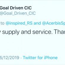 Goal Driven CIC Testimonial I Inspired Sports Solutions Ltd