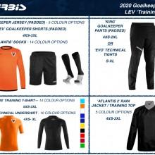 LEV GOALKEEPER 'TRAINING' SET 2020 I Inspired Sports Solutions Ltd