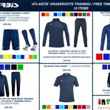 ATLANTIS 'GRASSROOTS' TRAINING / FREE TIME BUNDLE 3 2020 - 10 ITEMS I Inspired Sports Solutions Ltd