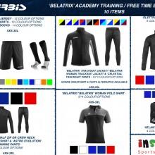 BELATRIX 'ACADEMY' TRAINING / FREE TIME BUNDLE 3 2020 - 10 items