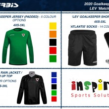 LEV GOALKEEPER 'MATCH' SET 2020 I Inspired Sports Solutions Ltd