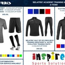 BELATRIX 'ACADEMY' TRAINING BUNDLE 2 2020 - 6 ITEMS I Inspired Sports Solutions Ltd